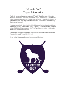 Lakeside Golf Tryout Information