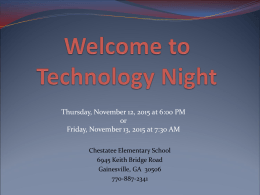 Thursday, November 12, 2015 at 6:00 PM or Chestatee Elementary School