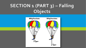 SECTION 1 (PART 3) – Falling Objects