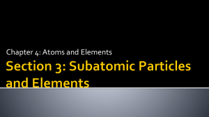 Chapter 4: Atoms and Elements