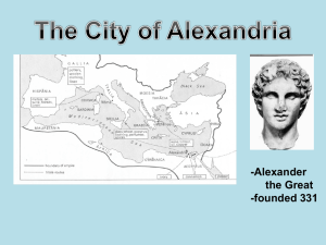 -Alexander the Great -founded 331