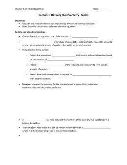 Limiting Reagent Worksheet #1