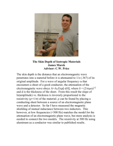The Skin Depth of Isotropic Materials James Marek Advisor: C.W. Price