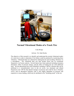 Normal Vibrational Modes of a Truck Tire