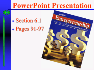 PowerPoint Presentation Section 6.1 Pages 91-97 