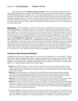 Histology Checklist