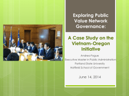 Exploring Public Value Network Governance: A Case Study on the