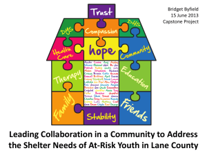 Leading Collaboration in a Community to Address Bridget Byfield 15 June 2013
