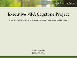 Executive MPA Capstone Project