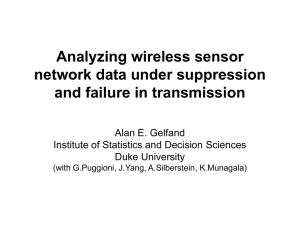 Analyzing wireless sensor network data under suppression and failure in transmission