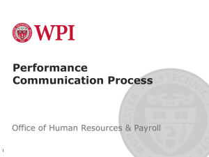 Performance Communication Process Office of Human Resources & Payroll 1