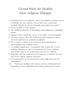 Ground Rules for Healthy Inter-religious Dialogue