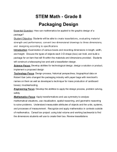 STEM Math - Grade 8 Packaging Design