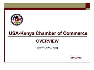 USA-Kenya Chamber of Commerce OVERVIEW www.uskcc.org JUNE 2008
