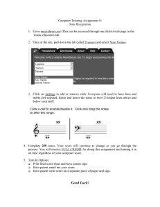 Computer Training Assignment #1  musictheory.net 'music education tab.