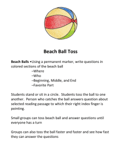 Beach Ball Toss