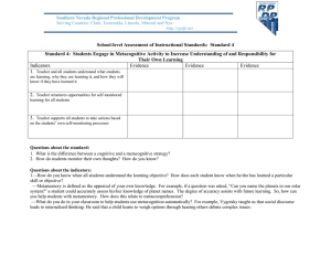 School-level Assessment of Instructional Standards:  Standard 4
