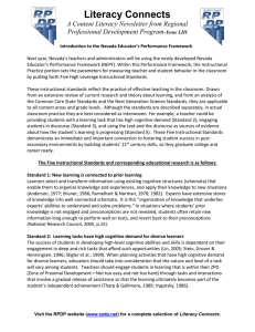 Literacy Connects  A Content Literacy Newsletter from Regional Professional Development Program-