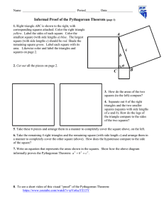 Informal Proof of the Pythagorean Theorem