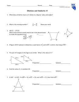 Geometry Chapter 7 Similarity Notes