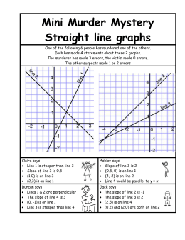 Mini Murder Mystery Straight line graphs