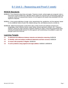 – Reasoning and Proof (1 week) S-1 Unit 3 NVACS Standards
