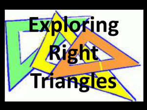 Exploring Right Triangles