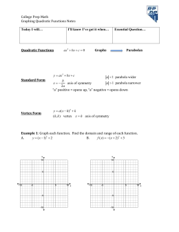 College Prep Math  Graphing Quadratic Functions Notes 