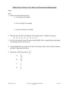 Math 6/Unit 4 Practice Test: Ratios and Proportional Relationships