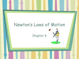 Newton's Laws of Motion Chapter 6 1