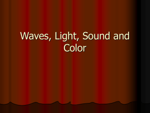 Waves, Light, Sound and Color