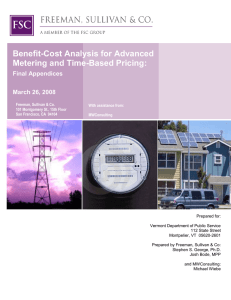 Benefit-Cost Analysis for Advanced Metering and Time-Based Pricing: Final Appendices