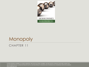 Monopoly CHAPTER 11