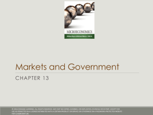 Markets and Government CHAPTER 13