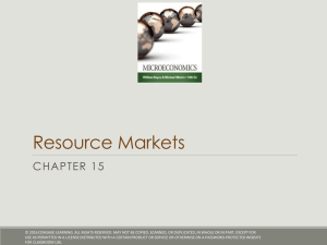 Resource Markets CHAPTER 15