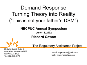 "Demand Response: Turning Theory into Reality ( ""This is not your father's DSM"")"