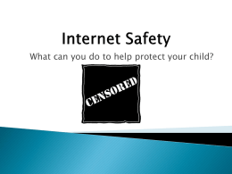 What can you do to help protect your child?