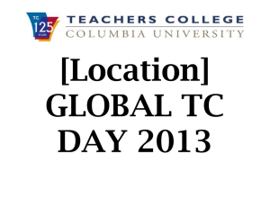 [Location] GLOBAL TC DAY 2013