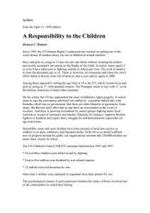 A Responsibility to the Children