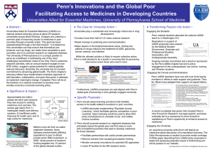 Penn's Innovations and the Global Poor Abstract