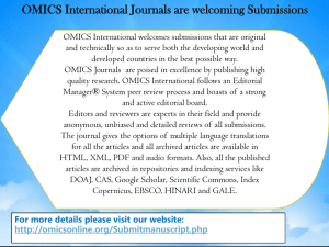 OMICS International Journals are welcoming Submissions