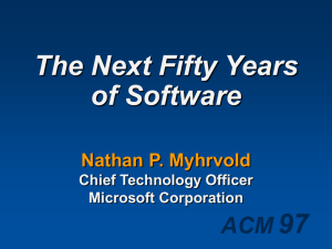 97 The Next Fifty Years of Software ACM