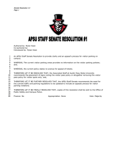 Senate Resolution #1  Page 1 1