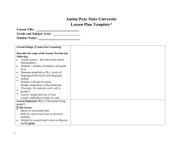 Learning event lesson plan form draft a for Otes lesson plan template