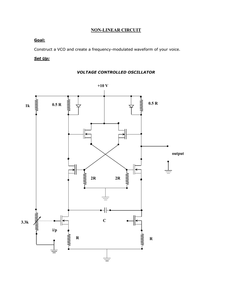 Non Linear Circuit 10 V 05 R Vco Diagram