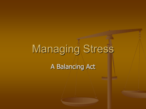 Managing Stress A Balancing Act