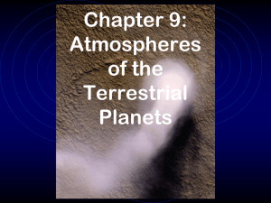 Chapter 9: Atmospheres of the Terrestrial