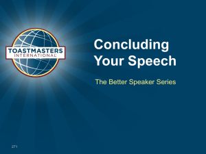 Concluding Your Speech The Better Speaker Series 271