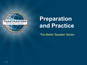 Preparation and Practice The Better Speaker Series 278