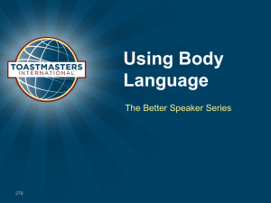 Using Body Language The Better Speaker Series 279
